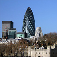 The city of London, where old meets new